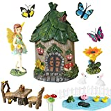 Miniature Fairy Garden Accessories Outdoor - Small Fairy Figurines Items Home Decorations - Fairy House Table Chair Set Fairy Garden Fairies Kit for Kids Fairy Figures Mini Garden Ornaments