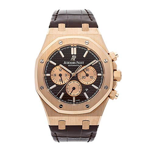 Audemars Piguet Royal Oak 41MM Brown 18K Rose Gold Men's Watch...
