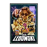 GUICAI The Big Lebowski Jeff Bridges Classic Vintage Movie Film Poster Art Silk Canvas Home Room Impresión de Pared Decoración -50X70 cm Sin Marco 1 Pcs