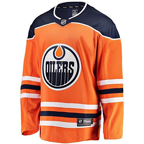 Fanatics NHL Eishockey Trikot Jersey Edmonton Oilers Breakaway by Home orange (L)
