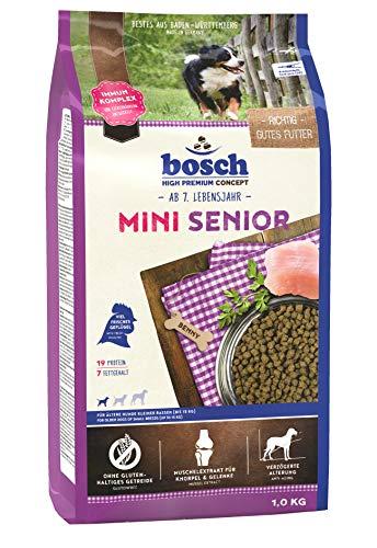 bosch HPC Mini Senior | Hundetrockenfutter für ältere Hunde kleiner Rassen (bis 15 kg), 5 x 1 kg