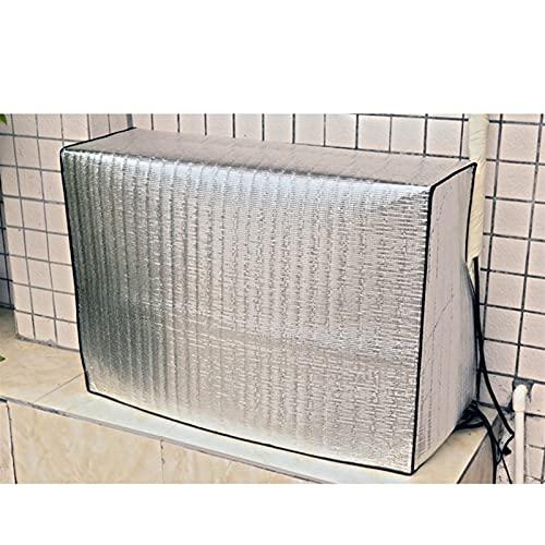 Copertura del Condizionatore 1pc laser in metallo in alluminio pellicola aria condizionata aria condizionata all'aperto aria condizionata sole parasole coperture parasole coperchio argento