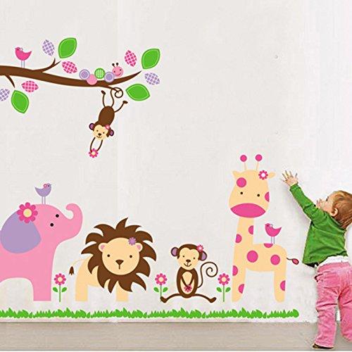 HuntGold DIY Jungle animal style PVC autocollant mural décoration de mur