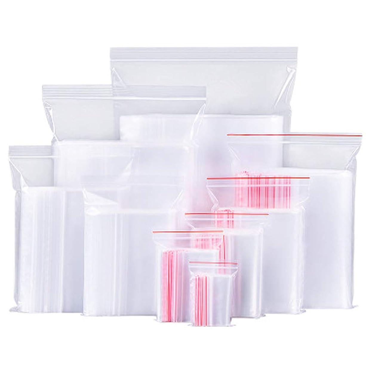 ダイエット助言するお嬢100ピースホワイト透明反復可能ジッパージッパープラスチックジップロックバッグジッパーロック再ロック可能なビニール袋 (クリア)