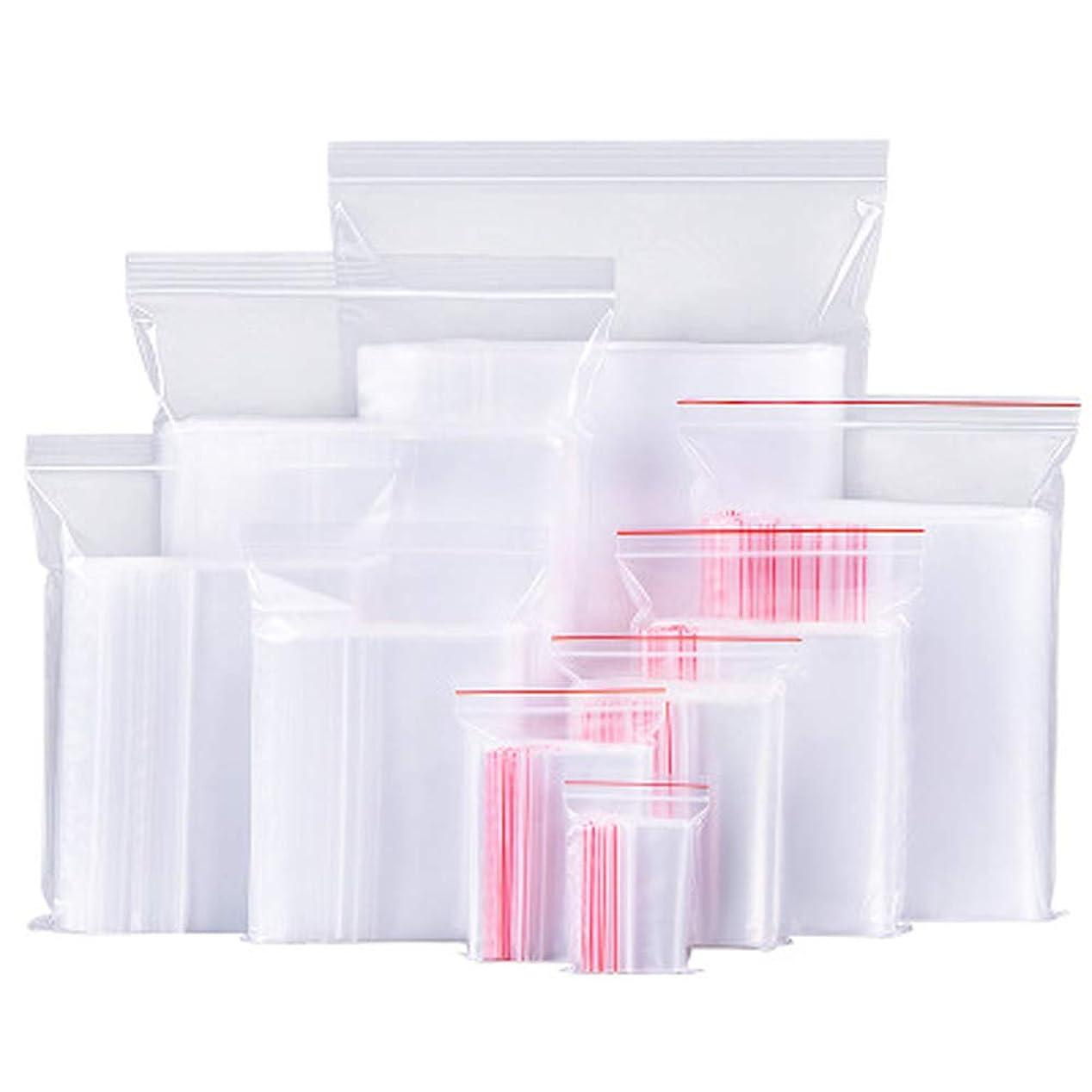 星姓円形の100ピースホワイト透明反復可能ジッパージッパープラスチックジップロックバッグジッパーロック再ロック可能なビニール袋 (クリア)