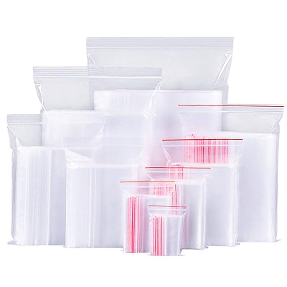 資格情報カメラ勤勉100ピースホワイト透明反復可能ジッパージッパープラスチックジップロックバッグジッパーロック再ロック可能なビニール袋 (クリア)