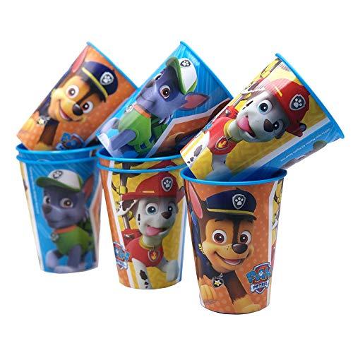 JuniorToys Paw Patrol Trinkbecher im Set 230ml mit Chase Rocky Marshall - Ideal als Mitgebsel für den Kindergeburtstag - Stabile Kunststoffausführung (8er Set)
