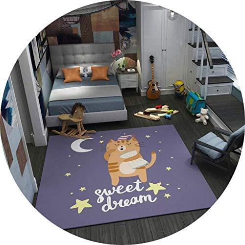 ZXL@ED Wohnzimmer Bodenmatte Dekoration, traditionelle Teppich Cartoon Bottom Slip leicht zu reinigen Studie Schlafzimmer warme Teppich, Teppiche kurzen Haufen Tatami Soft Dura
