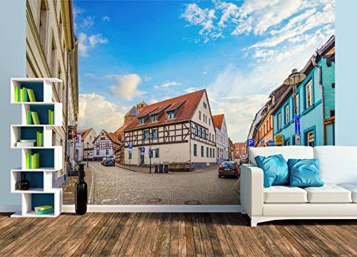 Premium Foto-Tapete Brunnen an der Langen Straße (versch. Größen) (Size XL | 465 x 310 cm) Design-Tapete, Wand-Tapete, Wand-Dekoration, Photo-Tapete, Markenqualität von ERFURT