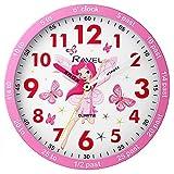 Ravel Children's 25cm Time Teacher Wall Clock - Pink Fairy