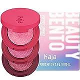 KAJA Beauty Bento Collection| Bouncy Shimmer Eyeshadow Trio | 04 Sparkling Rosé - wine tones | 2019 Allure Best of Beauty Award, Beauty Bento | Cruelty free, K-Beauty Mini Palettes