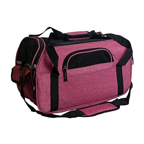 Zedelmaier Faltbare Hundetasche, Hundetragetasche, Katzentragetasche, Transporttasche Transportbox für Hunde und Katzen (M - 43 x 23 x 29 cm, Pink)