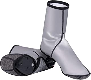 Zhicaikeji Chaussures Vélo Couverture Couvre-Chaussures imperméables à l'eau résistant au Vent résistant aux intempéries B...