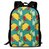 XCNGG Mochila de viaje para acampar con estampado de chili con salsa de tacos picantes, mochila escolar, mochilas multiusos para adultos y niños