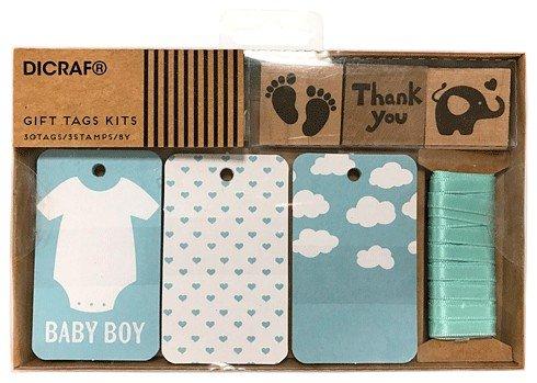 DISOK - Kit Tarjetas + SellosBaby Boy - Tarjetas para regalos Scrapbooking, Scrap, Handmade, Sellos, Manualidades para Bodas, Bautizos, Comuniones, Albumes, Bautizos, Babys, Bebes
