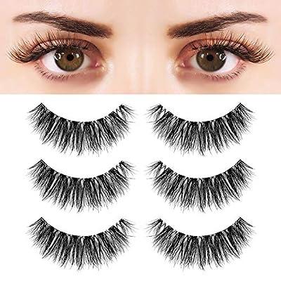 BEPHOLAN False Eyelashes Synthetic Fiber Material| 3D Mink Lashes| Cat Eyes Look| Reusable| 100% Handmade & Cruelty-Free|