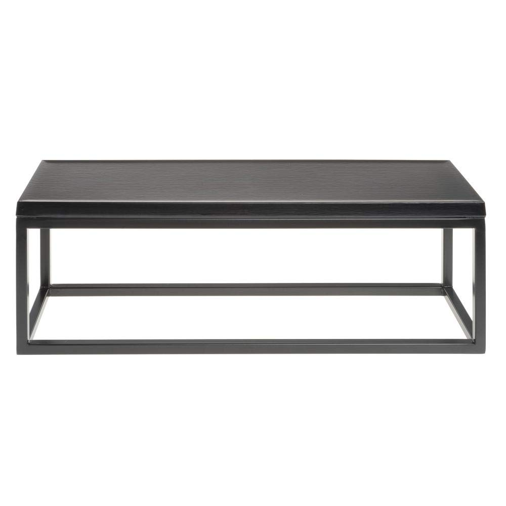 Hubert Free shipping on posting reviews Black Large Rectangular Riser Top - with Special price 7