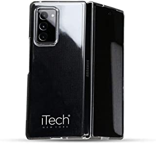 iTech Transparent Case Compatible with Galaxy Z Fold 2 Case   Crystal Clear PC Slim Protective Flip Cover 2021   Thin and ...