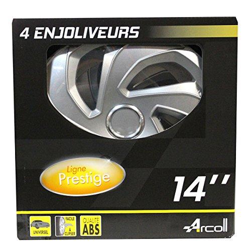 Arcoll 54033 4 Enjoliveurs Rex Ring, Set de 4