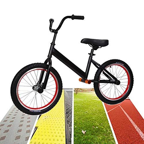 Bicicleta Sin Pedales Equilibrio 18 Pulgadas Neumático de Aire Bicicleta de Equilibrio para Adulto / Grande Chicos Chico Negro Grande Sin Pedal Bicicleta de Entrenamiento para La Altura de Los Adolesc