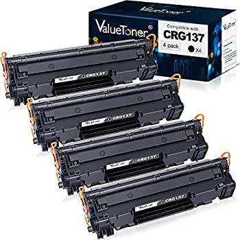 Valuetoner Compatible Toner Cartridge Replacement for Canon 137 9435B001AA to use with ImageClass D570 MF236n MF247dw LBP151dw MF227dw MF229dw MF216n MF232W MF217w LBP151dw MF249dw  Black 4-Pack