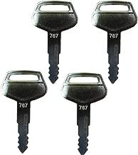 PC-7 KEYS 4 PCS FOR KOMATSU EXCAVATOR PC120-7 PC130-7 PC200-7 PC300-7 PC400-7 PC240-7