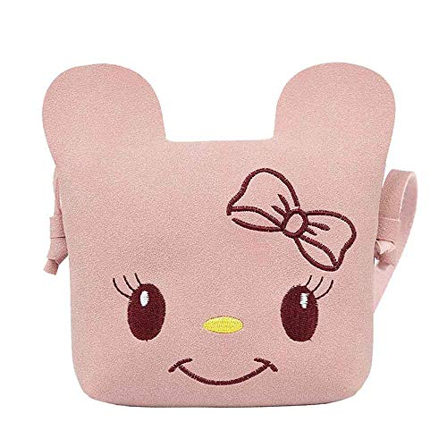 Bfmyxgs Schöne Kinder Messenger Bags für Mädchen Charakter Klettverschluss Klappentasche Weiche mit Handy Tasche Mode Cartoon Tasche Einfarbig Katze Umhängetasche Umhängetasche