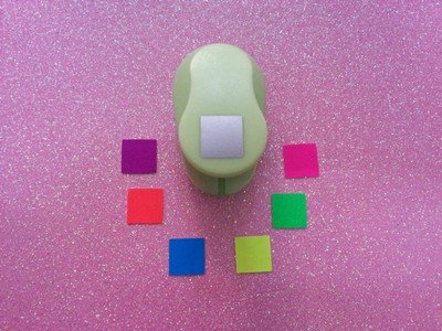 1 inch Square shape EVA foam punches paper punch for greeting card handmade DIY scrapbooking craft punch machine by Fascola