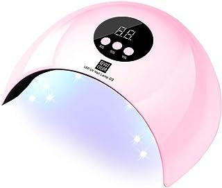 SHJMANPA Lampara LED Uñas, Secador de Uñas Botón Táctil Lampara para Blanquear Incorporada con Pantalla LCD Temporizador de, Modo de, Pink
