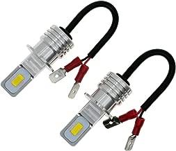 DODOFUN H3 LED Fog Light Bulbs Super Bright Replacement Kit 6000K Cool White Color (Pack of 2)