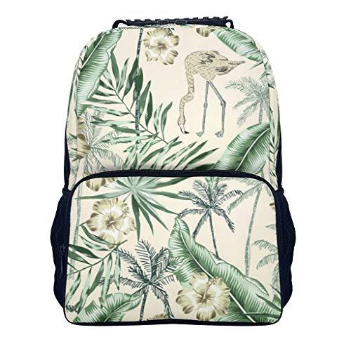 Xuanwuyi Mochila de planta verde - Flor de planta impermeable mochila de senderismo con bolsillo de papelería - Bolsa de hombro elemental para estudiante de escuela media viaje blanco onesize