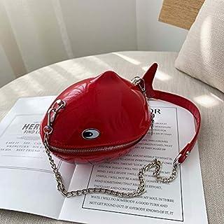 Adebie - 2019 New Fashion Women Cartoon Shoulder Bag Fashion Chain Brand Designer Messenger Shark Shape Crossbody Bag Clutch Bag Bolso Red []