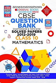 Oswaal CBSE Question Bank Class 10 Mathematics Chapterwise & Topicwise (For March 2020 Exam) by [Oswaal Editorial Board]