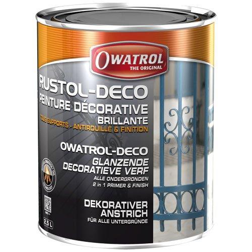 Owatrol rustol Art Deco Lack–2,5Liter Weiß glänzend