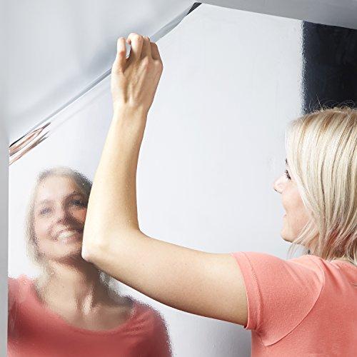 Spiegelfolie, selbstklebende, spiegelnde Bastel- und Klebefolie, silber, 220x75cm