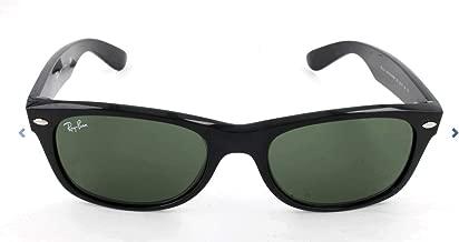 RAY-BAN RB2132 New Wayfarer Sunglasses, Black/Green, 58 mm