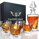 Whiskey-Glas-Set (Twist Dekanter-Set)