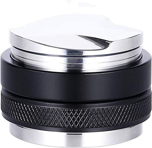 Senmil Dosificador de café de 53 mm, 2 en 1, dosificador de café, báscula de café de doble cabezal, apta para portafiltros de 54 mm, profundidad ajustable, cafetera espresso manual profesional