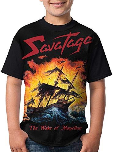 Kurze Ärmel, Tops Savatage Youth Boys Girl 3D Printing Casual Short Sleeve Top Novelty Funny Round Neck T Shirt Tee