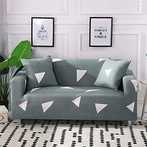 WXQY Funda de sofá de Estilo escandinavo, Funda de sofá, Funda de sofá elástica de algodón Puro para Sala de Estar, Funda de sofá Familiar antiincrustante A13 de 2 plazas