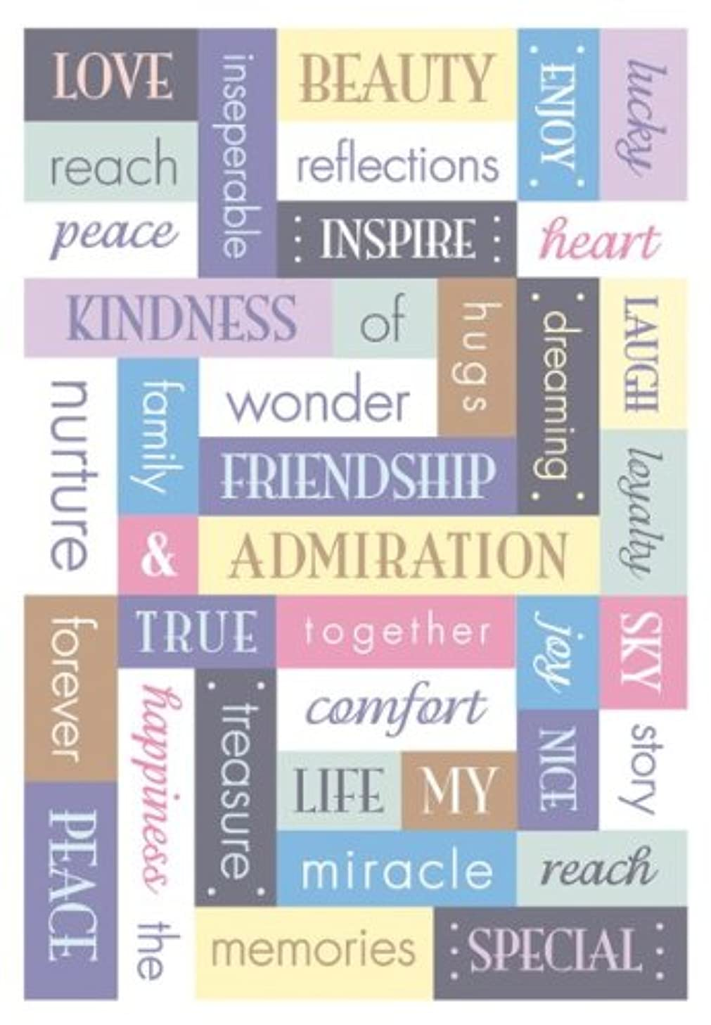 Momenta Puffy Word Sticker, Tranquil