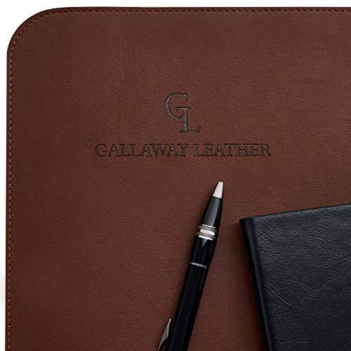 Gallaway Leather Desk Pad – 36 x 17 inch Large Mouse Pad - Desk Mat Home Office Desk Accessories Desktop Protector Non Slip Writing Desk Blotter (Dark Brown) Photo #5
