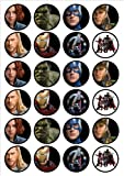 Avengers Edible PREMIUM THICKNESS SWEETENED VANILLA,Wafer Rice Paper Cupcake Toppers/Decorations