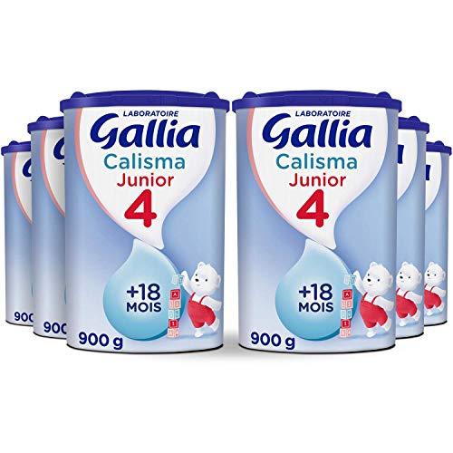 Laboratoire Gallia Junior - Lait bébé en poudre de 18 mois à 3 ans 900 g - Pack de 6