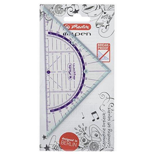 Herlitz 11367950 Herlitz Geometriedreieck my.pen 16cm farblich sortiert