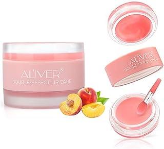 Lip Sleep Mask, Lip Scrub, Lip Treatment, Peach Overnight Moisturizing Repairing Lips Mask, Sleeping Lip Balm, Peeling Lip...