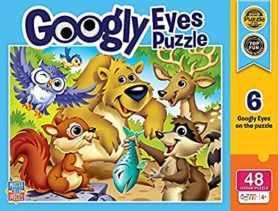 MasterPieces Puzzles Collection - Woodland Animals Googly Eye 48 Piece Right Fit Jigsaw Puzzle from MasterPieces Puzzle Company