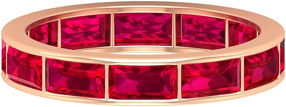 Wedding 3.6 CT Ruby Stacking Ring Red Gemstone Special At the price of surprise Campaign R Certified Band