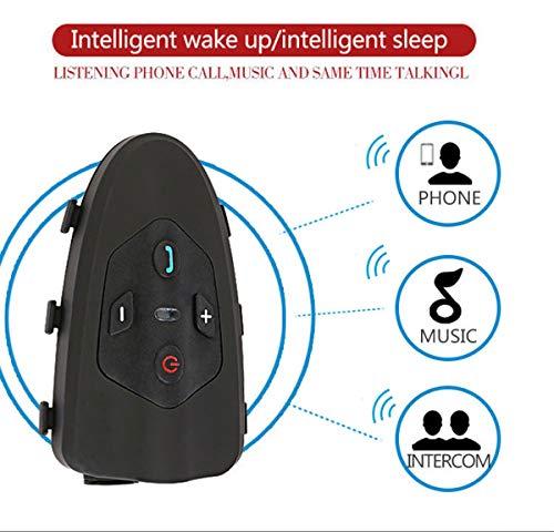 Fahrradhelm Bluetooth Walkie Talkie Bluetooth Motorrad Helm Intercom 200hrs Standby Schnell Pairing Headset casco moto(1 Packung)