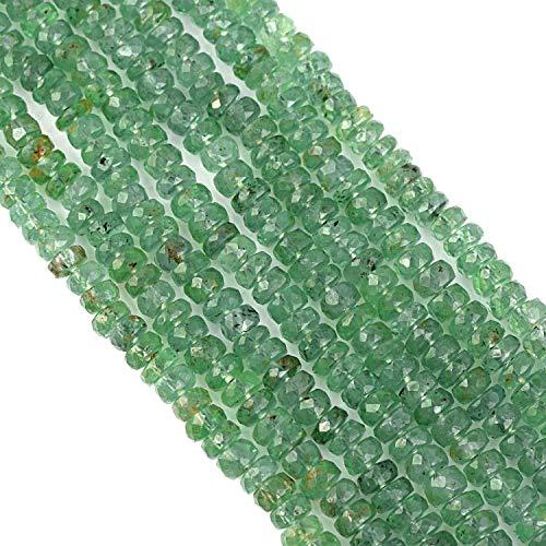 Vatslacreations Cuentas de cianita graduadas exóticas de 20 cm, cuentas de cianita verde para fabricación de joyas, lote al por mayor, cuentas sueltas de cianita de menta